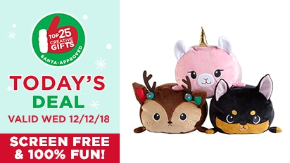 $10 EACH Moosh-Moosh Pillows. Reg. $12 Each. Reg. $15 Each. Today's Deal Valid 12/12/18 - Top 25 Gifts Countdown to Christmas.