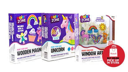$5 EACH Color Zone™ Activity Kits. Reg. $8 Each. Buy Online Pick Up In-Store