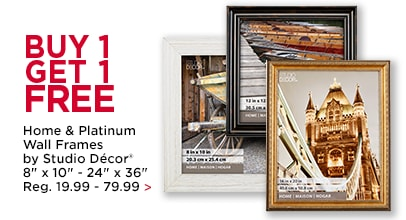 Buy 1, Get 1 FREE Home & Platinum Wall Frames by Studio Décor