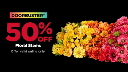 DOORBUSTER - 50% OFF Floral Stems.