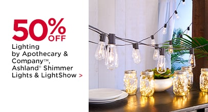 50% OFF Lighting by Apothecary & Company, Ashland Shimmer Lights and LightShow