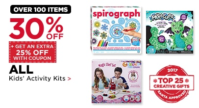 30% OFF + Get An Extra 25% Off With Coupon ALL Kids' Activity Kits