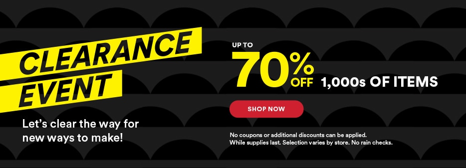 Clearance event: Up to 70% off thousands of items. Shop now