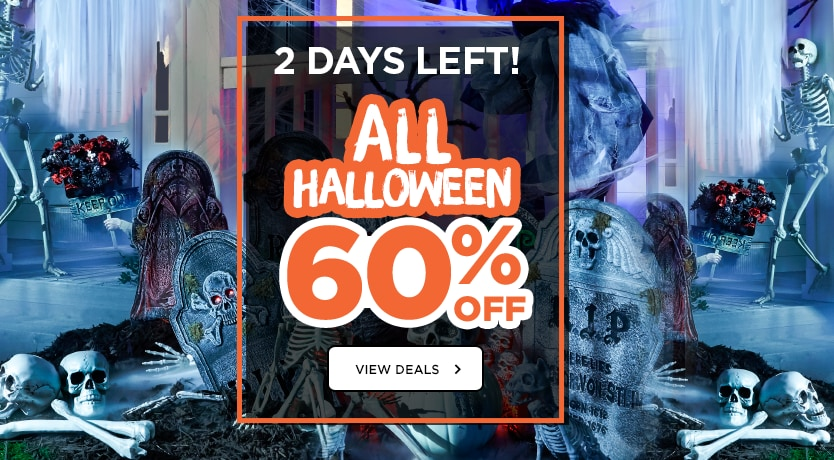 2 Days Left! 60% ALL Halloween