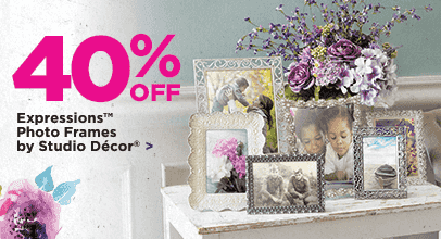 40% Off Expressions™ Photo Frames by Studio Décor
