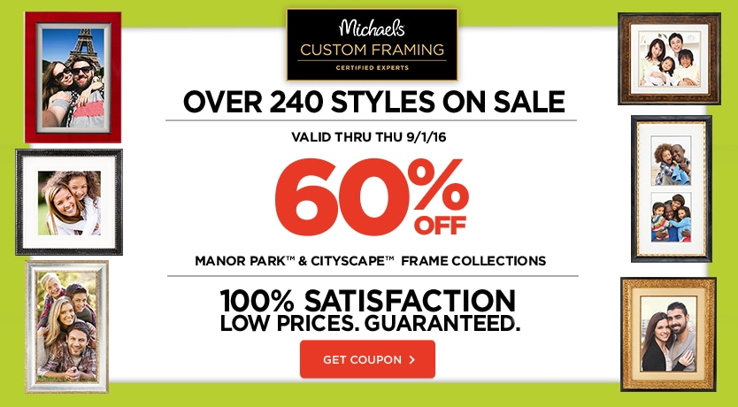 60% Off Manor Park and Cityscape frame collections