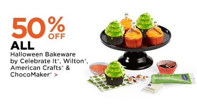 40% OFF ALL Halloween Bakeware by Celebrate It, Wilton, American Crafts, & ChocoMaker
