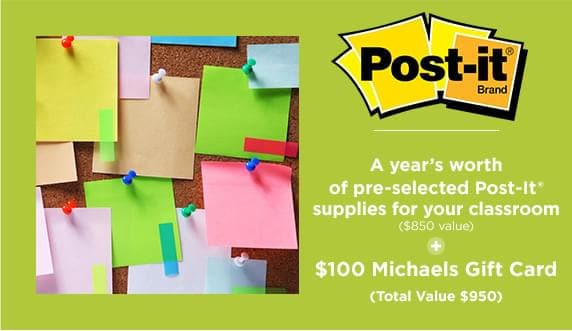 A years worth of pre-selected Post-It Supplies for your classroom