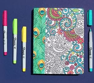 Coloring Fabric Journal