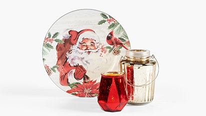 50% OFF ALL Christmas Candle Collection & Chargers.