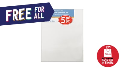 Buy 1, Get 1 FREE ALL Super Value Canvas 5 pk.