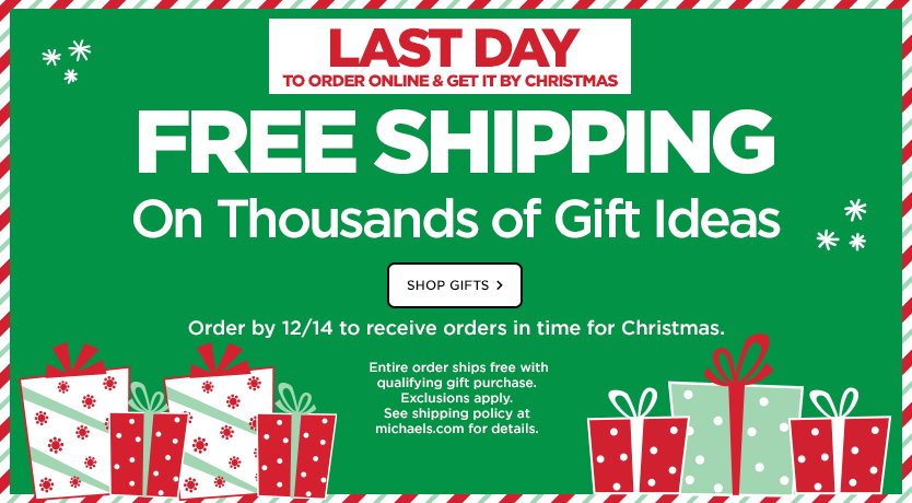Gifts Ship Free - LAST DAY