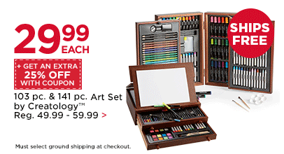 $29.99 Each + Get An Extra 25% Off With Coupon 103 pc. & 141 pc. Art Set by Creatology