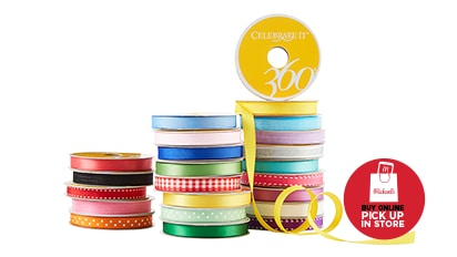 70% OFF 360º™ Yellow Label Ribbon by Celebrate It®. Buy Online Pick Up In-Store