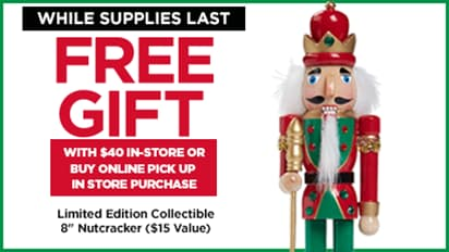Free Gift with Purchase – Limited Edition Collectible 8 inch NUTCRACKER