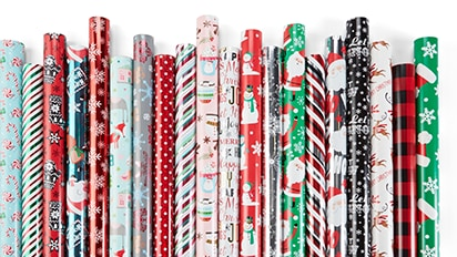 60% OFF Christmas Roll Wrap. Sale 2.50 Each Reg. $5 Each